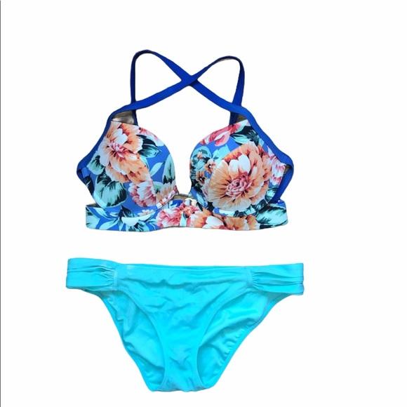 34D/M Victoria secret bikini bottoms & pushup top
